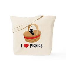 I Love Picnics Tote Bag