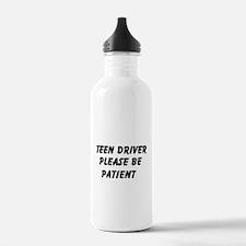 Teen Driver Please Be Patient Water Bottle