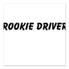 "Rookie Driver Square Car Magnet 3"" x 3"""