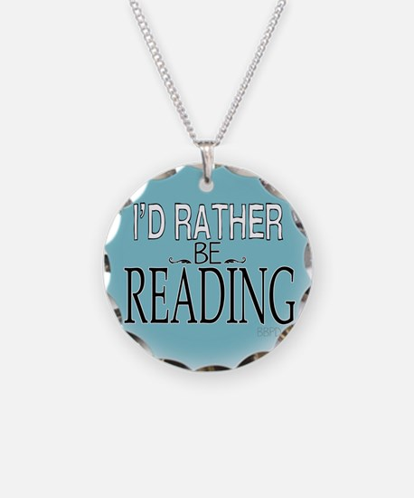 Rather Be Reading Necklace