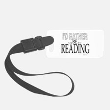 Rather Be Reading Luggage Tag