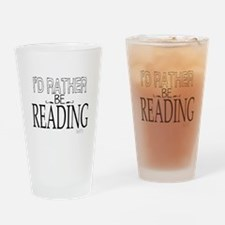 Rather Be Reading Drinking Glass