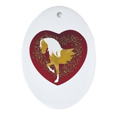 Gaited Love Oval Ornament