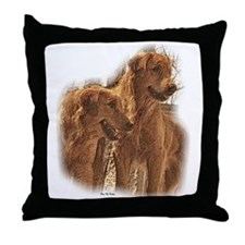 Golden Retriever Art Throw Pillow