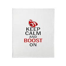 Turbo Boost - Keep Calm Throw Blanket