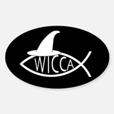 Wicca Fish Oval Decal
