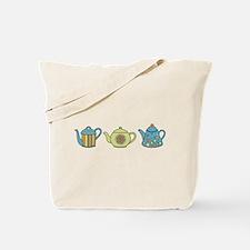 Teapot Border Tote Bag