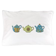 Teapot Border Pillow Case