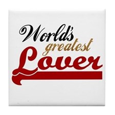 Worlds Greatest Lover Tile Coaster