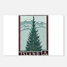 Vintage 1957 Iceland Spruce Tree Postage Stamp Pos