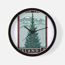 Vintage 1957 Iceland Spruce Tree Postage Stamp Wal