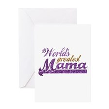 Worlds Greatest Mama Greeting Card