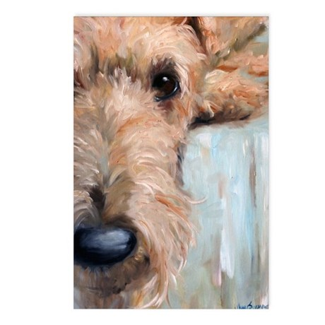 Airedale blues Postcards (Package of 8)