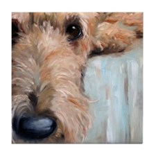 Airedale blues Tile Coaster