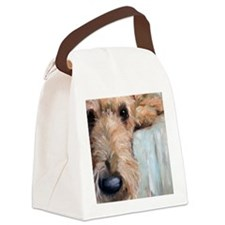 Airedale blues Canvas Lunch Bag