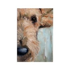 Airedale blues Rectangle Magnet