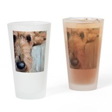 Airedale blues Drinking Glass