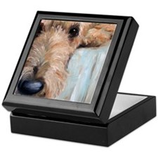 Airedale blues Keepsake Box