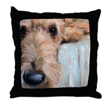 Airedale blues Throw Pillow