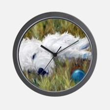 Plum Tuckered Wall Clock
