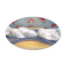 nappers Oval Car Magnet