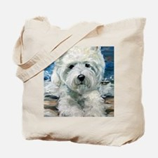 beached pup Tote Bag