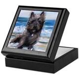 Cairn terrier Square Keepsake Boxes