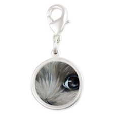 Peeper Silver Round Charm