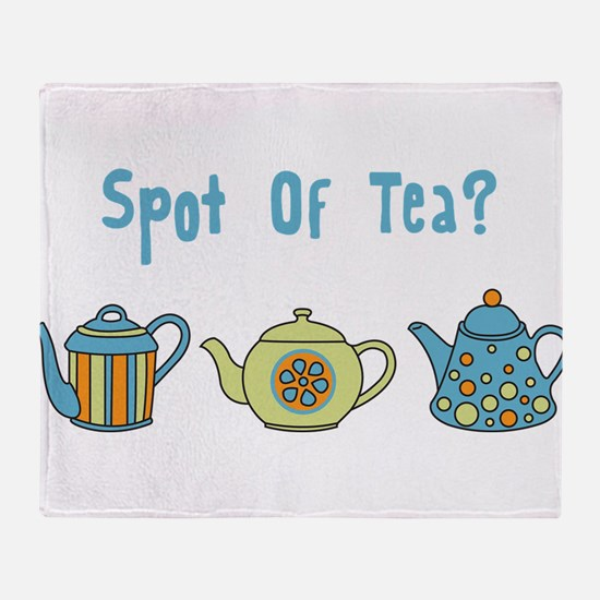 Spot Of Tea Throw Blanket