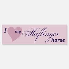 I love my Haflinger horse Bumper Bumper Bumper Sticker