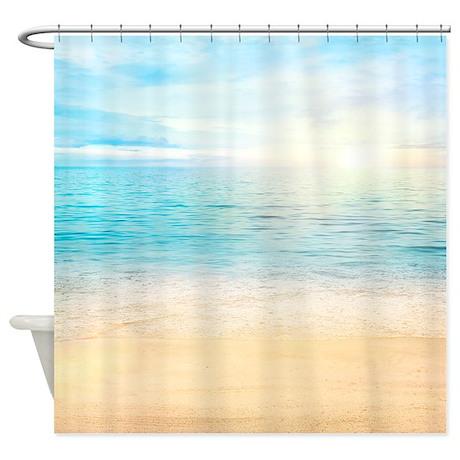 beautiful beach shower curtain by bestshowercurtains
