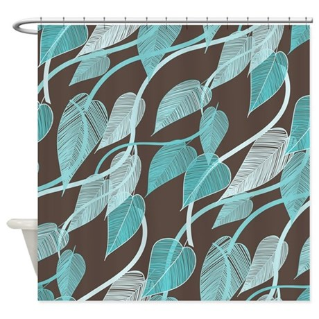 leaves pattern shower curtain by bestshowercurtains