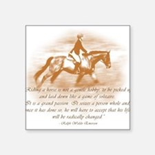 Riding Is A Passion Equestrian Sticker (Rectangula