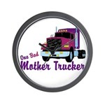 One Bad Mother Trucker Wall Clock