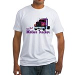 One Bad Mother Trucker Fitted T-Shirt