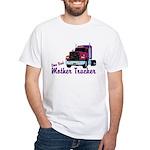 One Bad Mother Trucker White T-Shirt