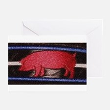 PIG ON LEATHER PRIDE/master GreetingCards10 Pk