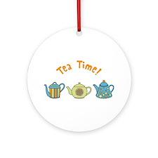 Tea Time Ornament (Round)
