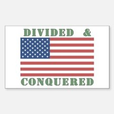 Divided & Conquered Rectangle Decal