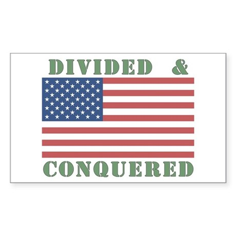 Divided & Conquered Rectangle Sticker