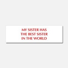 my-sister-OPT-RED Car Magnet 10 x 3