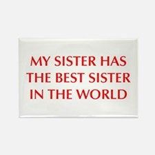 my-sister-OPT-RED Rectangle Magnet