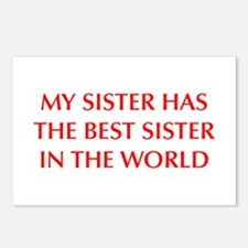 my-sister-OPT-RED Postcards (Package of 8)