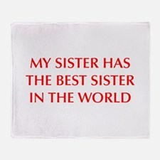 my-sister-OPT-RED Throw Blanket