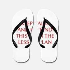 KEEP-CALM-LESSON-PLAN-OPT-RED Flip Flops