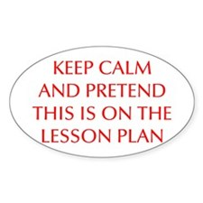 KEEP-CALM-LESSON-PLAN-OPT-RED Decal