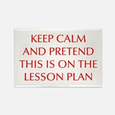 KEEP-CALM-LESSON-PLAN-OPT-RED Rectangle Magnet (10