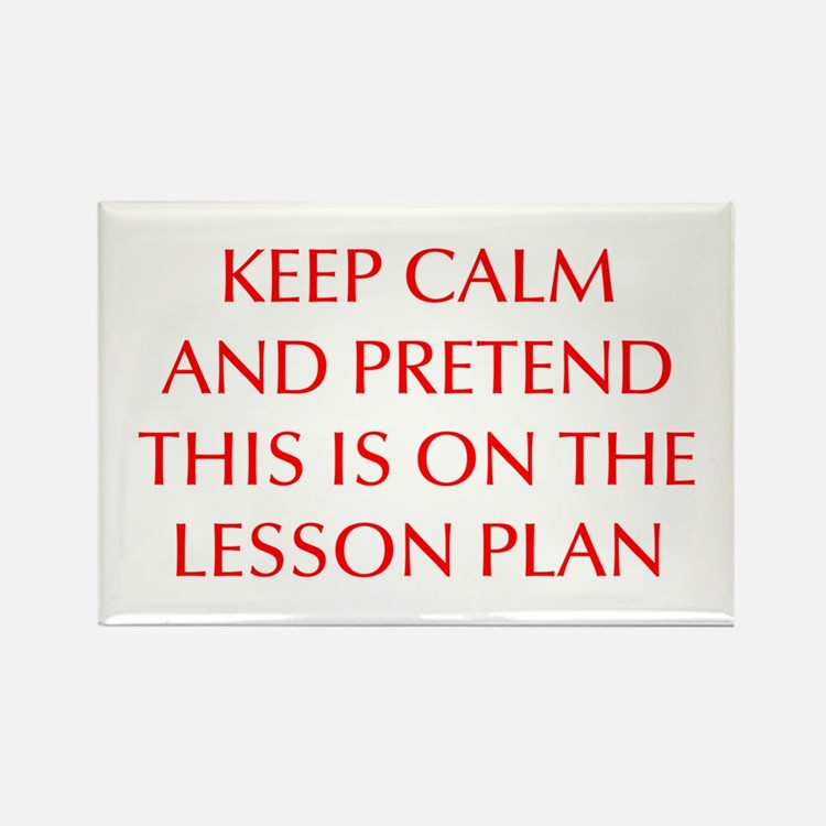 KEEP-CALM-LESSON-PLAN-OPT-RED Rectangle Magnet