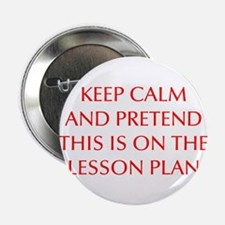 "KEEP-CALM-LESSON-PLAN-OPT-RED 2.25"" Button (10 pac"