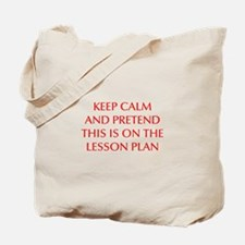 KEEP-CALM-LESSON-PLAN-OPT-RED Tote Bag